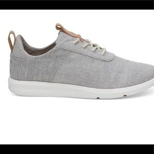TOM's Grey Chambray Mix Women's Cabrillo Sneakers